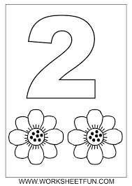 Kids Coloring Pages Number 2 Coloring Sheets For Toddlers Best