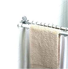 curved double shower rods permanent shower rod permanent shower curtain rod mount curved brushed nickel permanent