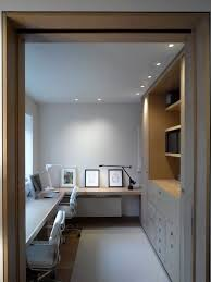 home office storage. Contemporary Home Office Design. Like The Layout For A Long, Narrow Room, But Storage
