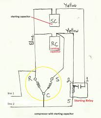 refrigeration and air conditioning repair wiring diagram of wiring diagram of compressor starting capacitor