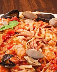Linguine with Seafood (Linguine ai ...