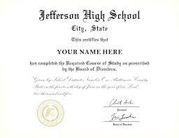 Template Highschool Diploma Template
