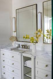 How Tall Is A Bathroom Vanity Interesting Brass Vanity Mirror With Calliope Tall Bath Lights Transitional