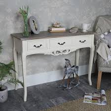 cream console table. Ornate Cream 3 Drawer Console Table - Georgette Range