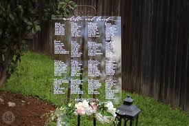 Wedding Seating Chart Acrylic 30 Acrylic Wedding Signs Invitations The Overwhelmed