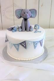 Elephant And Bunting Boy Baby Shower Cake Sweet Bites Cakes