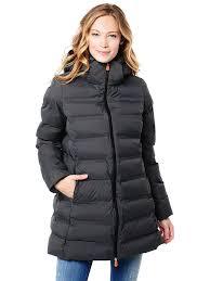save the duck women s long puffer winter coat