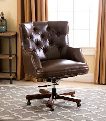 roosevelt brown leather office chair