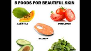 Food for glowing skin and and fair
