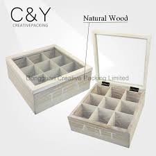 china unfinished pine wood empty tea packaging box with glass lid china unfinished tea box packaging tea box