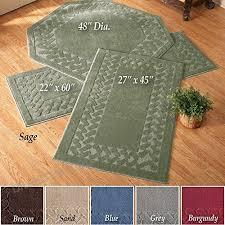 herringbone trim solid colored skid resistant decretive accent rugs sage runner b00rhe7khs