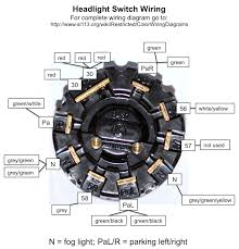 headlight switch wiring diagram wiring diagram for headlight switch wiring image pagoda sl group technical manual electrical lightswitch on wiring