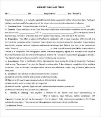 aircraft purchase letter of intent template word doc purchaser cover letter
