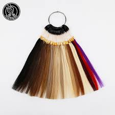 Color Design Hair Colour Chart Us 22 9 50 Off Fairy Remy Hair 100 Remy Human Hair Color Rings Colour Charts 26 Colors Available Can Be Dyed For Salon Sample Free Shipping In