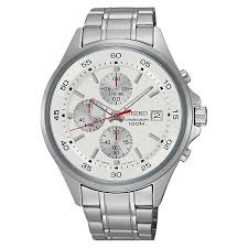 men s seiko watches h samuel seiko men s stainless steel chronograph watch product number 4938593