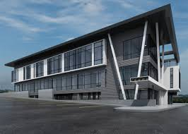modern office building. The Southwestern Facade Of Building. Plexus R+d Modern Office Building