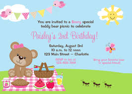 Teddy Bear Birthday Invitation New Teddy Bear Birthday Invitations ...