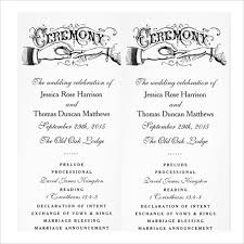 sample wedding ceremony program 19 wedding ceremony templates free sample example format