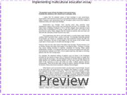 implementing multicultural education essay coursework service implementing multicultural education essay the well crafted argument chris garber the importance of