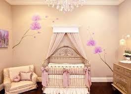 chandelier for girls room. Luxury Baby Girl Room Idea With Chandelier And Cute Wallpaper For Girls