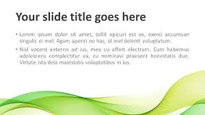 16 9 Template Modern Green Waves Powerpoint Template Presentationgo Com