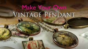 implausible make your own pendent vintage pendant glass tile tray jewellery kit you light necklace fixture shade lamp pennant banner