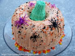 Halloween Bundt Cake Decorations Kitchen Simmer Decorated Pumpkin Cake