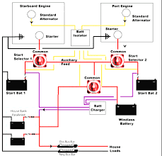 marine house battery wiring diagram two battery boat wiring how to wire a boat battery switch at Marine Battery Isolator Wiring Diagram
