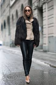 faux fur trend johanna olsson is wearing a faux fur coat from isabel marant