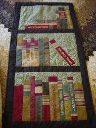 Machine embroidered book titles | sewing quilting | Pinterest ... & Custom Made Bookshelf Wh Quilt Adamdwight.com