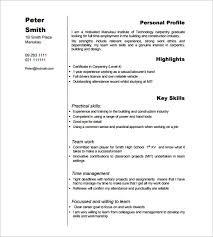 Carpenter Resume Template  9+ Free Samples, Examples, Format .