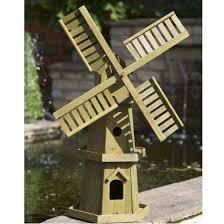 smart garden giant wooden windmill wood