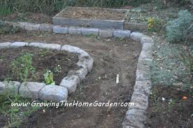 Small Picture Raised Bed Vegetable Garden with Stone Borders Growing The Home