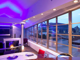bachelor pad lighting. bachelor pad penthouse design london qmc redesigned this space to include a bespoke kitchen roof terrace with water features and led lighting e