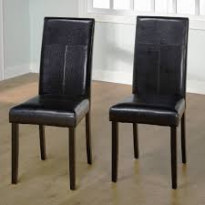 image is loading faux leather parson dining chair set of 2