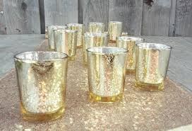 24 or 36 gorgeous glittery gold mercury glass candle holders gold votive holders tealight holder