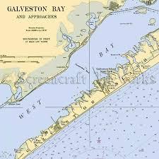West Galveston Bay Depth Chart Texas Galveston Bay Approaches Nautical Chart Decor