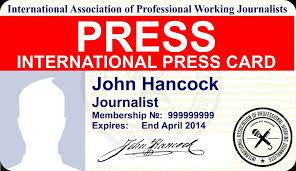 Id International Press Card Iapwjiapwj Version - Mobile