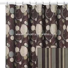 Fabulous Brown And Green Shower Curtains Inspiration with Brown And