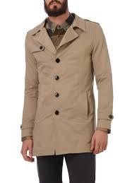 selected homme trenchcoat mit reverskragen beige herren selected touch jacke s