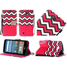 lg zone 3 phone cases. lg spree k4 optimus zone 3 vs425pp wallet bling flip case - hot pink chevron :: cellphonecases.com lg phone cases l
