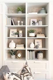 bookshelf styling living room decor