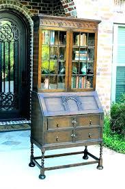 bookcases bookcase secretary desk antique with oak lovely tables mahogany