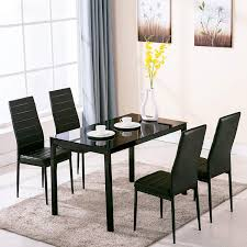 perfect dining table set 5 piece amazon 4 family chair gl metal kitchen room breakfast