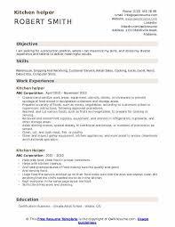 Resume Helper Free Kitchen Helper Resume Samples Qwikresume