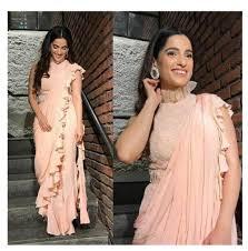 New Bollywood Designer Sarees Awesome New Bollywood Designer Ruffle Saree Womens Fashion