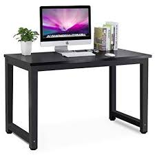 amazing black computer desk on com tribesigns modern simple style pc laptop