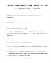 Free Affidavit Form Download Unique Sample Guardianship Affidavit Forms 48 Free Documents In PDF