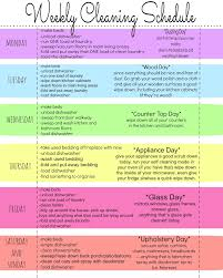 My Quirky Weekly Cleaning Chart Free Printable Weekly