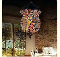 mosaic lights exotic unique pendant lamp mosaic color glass corridor special pendant light style mosaic wall